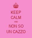 KEEP CALM AND NON SO UN CAZZO - Personalised Tea Towel: Premium