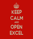 KEEP CALM AND OPEN EXCEL - Personalised Tea Towel: Premium
