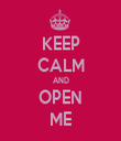 KEEP CALM AND OPEN ME - Personalised Tea Towel: Premium