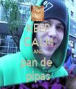 KEEP CALM AND pan de  pipas - Personalised Tea Towel: Premium