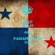 KEEP CALM AND PANAMANIAN ON - Personalised Tea Towel: Premium
