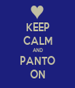 KEEP CALM AND PANTO ON - Personalised Tea Towel: Premium