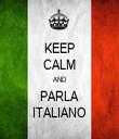 KEEP CALM AND PARLA ITALIANO - Personalised Tea Towel: Premium
