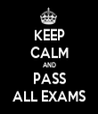 KEEP CALM AND PASS ALL EXAMS - Personalised Tea Towel: Premium