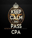 KEEP CALM AND PASS CPA - Personalised Tea Towel: Premium