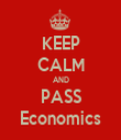 KEEP CALM AND PASS Economics - Personalised Tea Towel: Premium