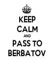 KEEP CALM AND PASS TO BERBATOV - Personalised Tea Towel: Premium