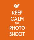 KEEP CALM AND PHOTO SHOOT - Personalised Tea Towel: Premium