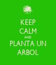 KEEP CALM AND PLANTA UN ARBOL - Personalised Tea Towel: Premium