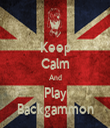 Keep Calm And Play Backgammon - Personalised Tea Towel: Premium