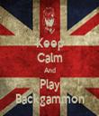 Keep Calm And Play Backgammon - Personalised Tea Towel: Premium
