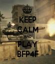 KEEP CALM AND PLAY BFP4F - Personalised Tea Towel: Premium