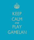 KEEP CALM AND PLAY GAMELAN - Personalised Tea Towel: Premium