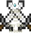 KEEP CALM AND Play like A boss - Personalised Tea Towel: Premium