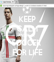 KEEP CALM AND PLAY  SOCCER  FOR LIFE - Personalised Tea Towel: Premium