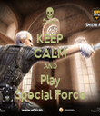 KEEP CALM AND Play Special Force - Personalised Tea Towel: Premium