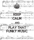 KEEP CALM AND PLAY THAT FUNKY MUSIC - Personalised Tea Towel: Premium
