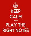 KEEP CALM AND PLAY THE RIGHT NOTES - Personalised Tea Towel: Premium