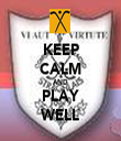 KEEP CALM AND PLAY WELL - Personalised Tea Towel: Premium