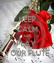 KEEP CALM AND PLAY  YOUR FLUTE - Personalised Tea Towel: Premium