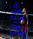 KEEP CALM AND Plays Soccer - Personalised Tea Towel: Premium