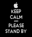 KEEP CALM AND PLEASE STAND BY - Personalised Tea Towel: Premium