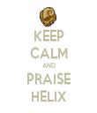 KEEP CALM AND PRAISE HELIX - Personalised Tea Towel: Premium