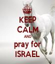 KEEP CALM AND pray for ISRAEL - Personalised Tea Towel: Premium