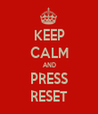 KEEP CALM AND PRESS RESET - Personalised Tea Towel: Premium