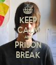 KEEP CALM AND PRISON BREAK - Personalised Tea Towel: Premium