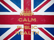 KEEP CALM AND PUBLIC HEALTH - Personalised Tea Towel: Premium