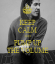 KEEP CALM AND PUMP UP THE VOLUME - Personalised Tea Towel: Premium