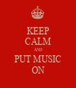 KEEP CALM AND PUT MUSIC ON - Personalised Tea Towel: Premium