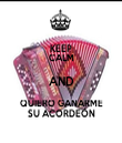 KEEP CALM AND QUIERO GANARME SU ACORDEÓN - Personalised Tea Towel: Premium