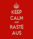 KEEP CALM AND RASTE AUS - Personalised Tea Towel: Premium