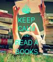 KEEP CALM AND READ A BOOKS - Personalised Tea Towel: Premium