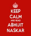 KEEP CALM AND READ ABHIJIT NASKAR - Personalised Tea Towel: Premium