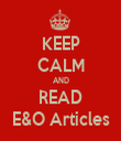 KEEP CALM AND READ E&O Articles - Personalised Tea Towel: Premium