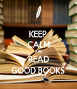 KEEP  CALM AND READ GOOD BOOKS  - Personalised Tea Towel: Premium