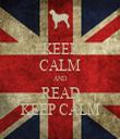 KEEP CALM AND READ KEEP CALM - Personalised Tea Towel: Premium