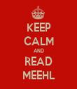 KEEP CALM AND READ MEEHL - Personalised Tea Towel: Premium
