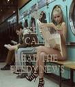 KEEP CALM AND READ THE  FEEDY NEWS - Personalised Tea Towel: Premium