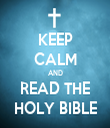 KEEP CALM AND READ THE HOLY BIBLE - Personalised Tea Towel: Premium