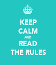 KEEP CALM AND READ THE RULES - Personalised Tea Towel: Premium