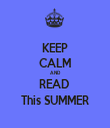 KEEP CALM AND READ  This SUMMER - Personalised Tea Towel: Premium