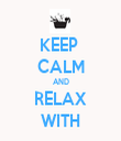KEEP  CALM AND RELAX WITH - Personalised Tea Towel: Premium