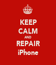 KEEP CALM AND REPAIR iPhone - Personalised Tea Towel: Premium