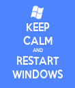 KEEP CALM AND RESTART WINDOWS - Personalised Tea Towel: Premium