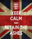 KEEP CALM AND RETAIN THE ASHES - Personalised Tea Towel: Premium