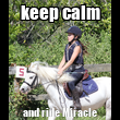 keep calm and ride Miracle - Personalised Tea Towel: Premium